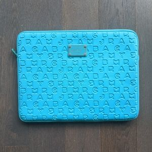 """Marc by Marc Jacobs Teal 15"""" Laptop Sleeve"""